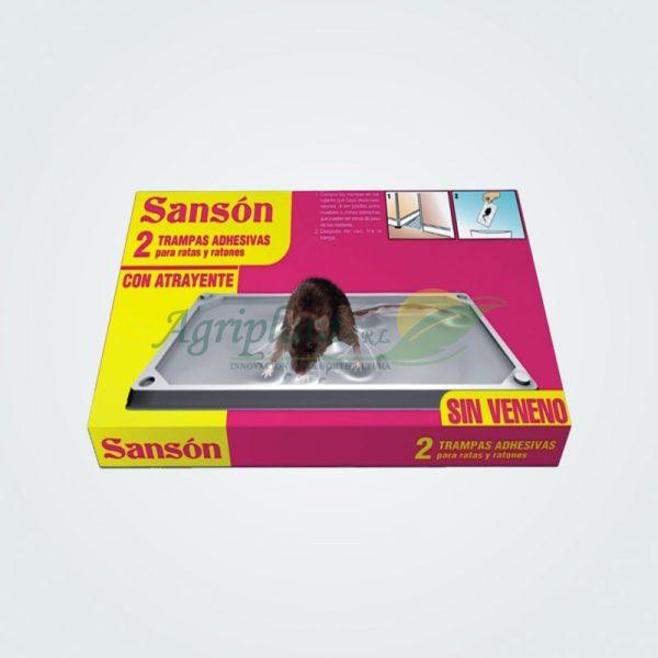 Sansón, Trampa Adhesiva